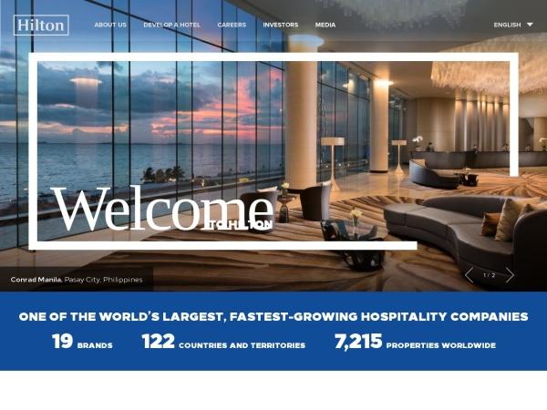 Screenshot of www.hiltonworldwide.com