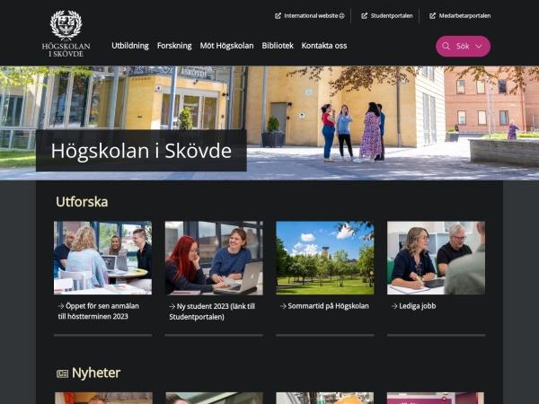 Screenshot of www.his.se