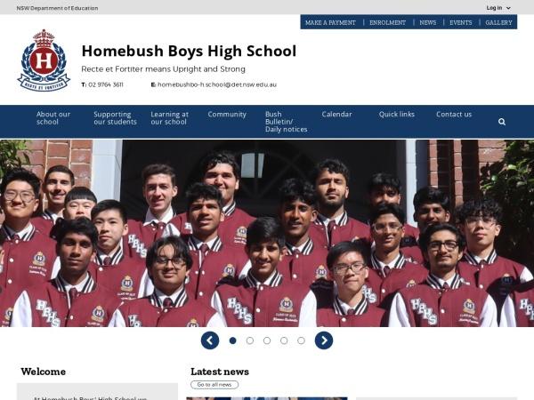 Screenshot of www.homebushbo-h.schools.nsw.edu.au