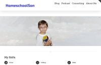 Screenshot of www.homeschoolson.com