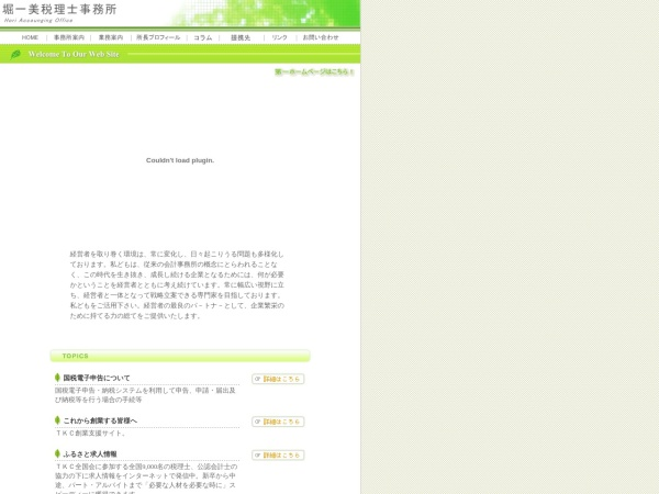 Screenshot of www.hori-tax.jp