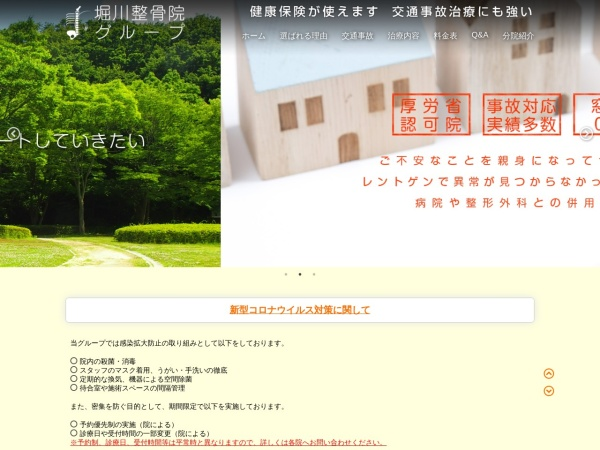 Screenshot of www.horikawaseikotu.com