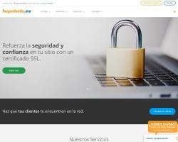Captura de pantalla de www.hospedando.com.mx