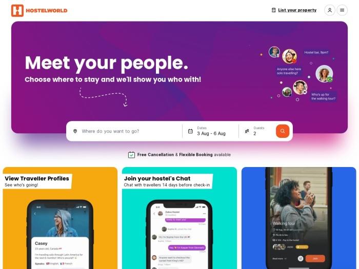http://www.hostelworld.com