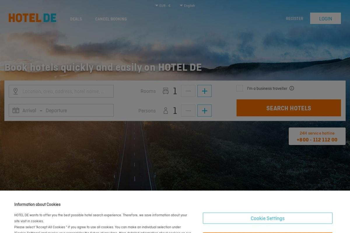 Screenshot of www.hotel.info