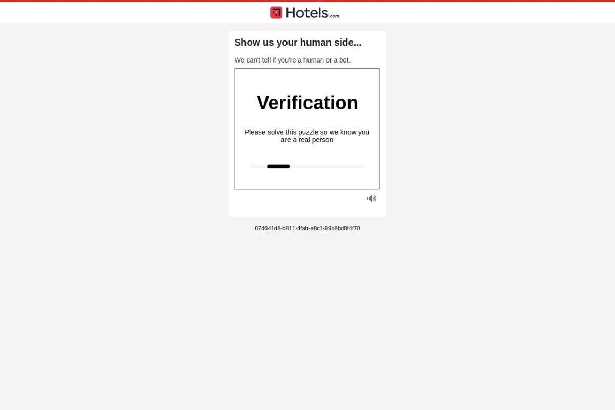 Screenshot of www.hotels.com