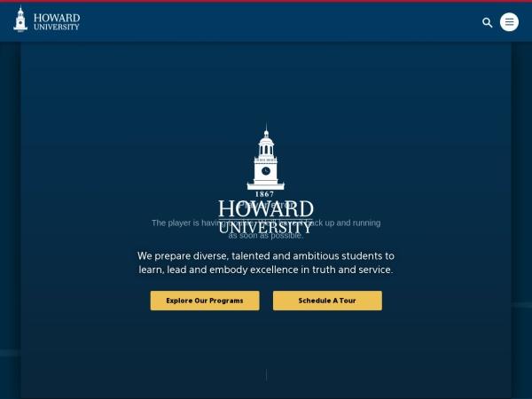 Screenshot of www.howard.edu