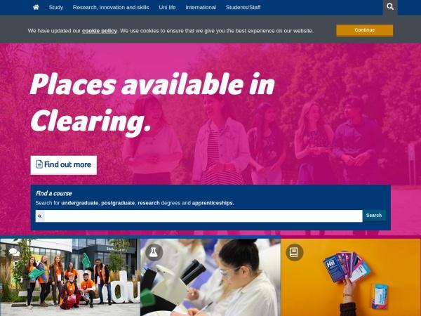 Screenshot of www.hud.ac.uk