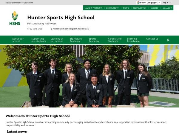 Screenshot of www.hunterspt-h.schools.nsw.edu.au