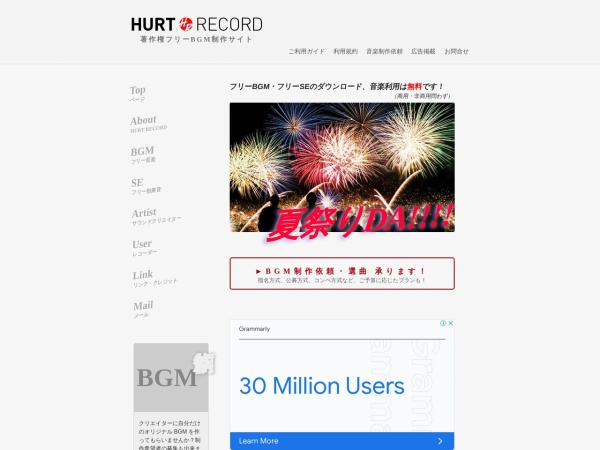 Screenshot of www.hurtrecord.com