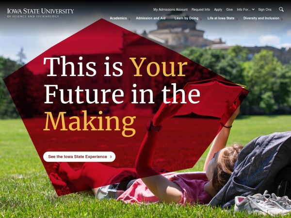 Screenshot of www.iastate.edu