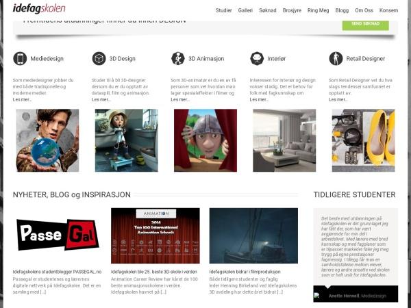 Screenshot of www.idefagskolen.no