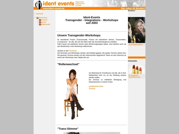 Screenshot of www.ident-events.de