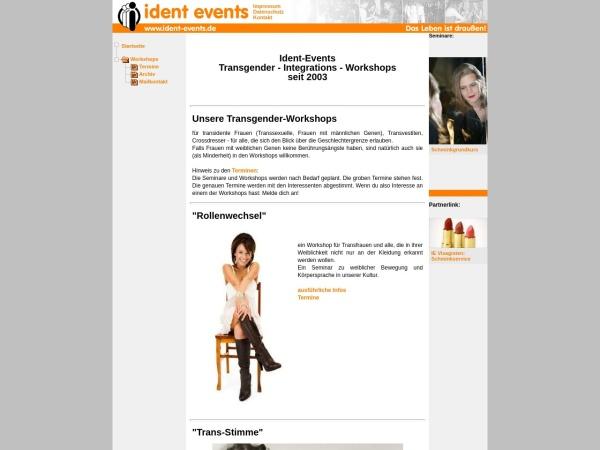 Screenshot von www.ident-events.de