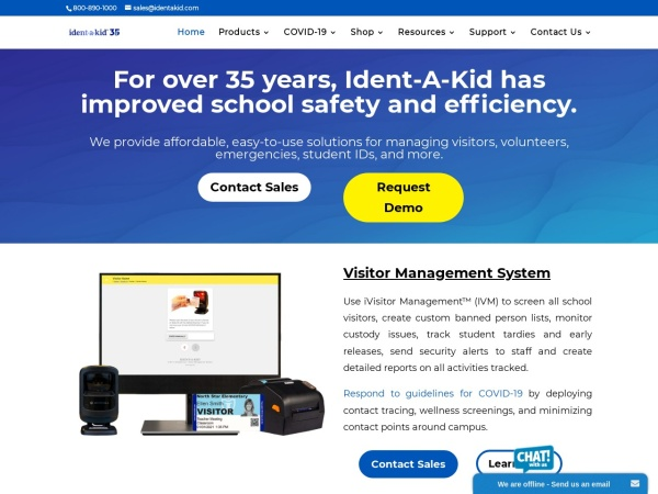 Screenshot of www.identakid.com