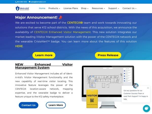 Screenshot of www.identakid.com
