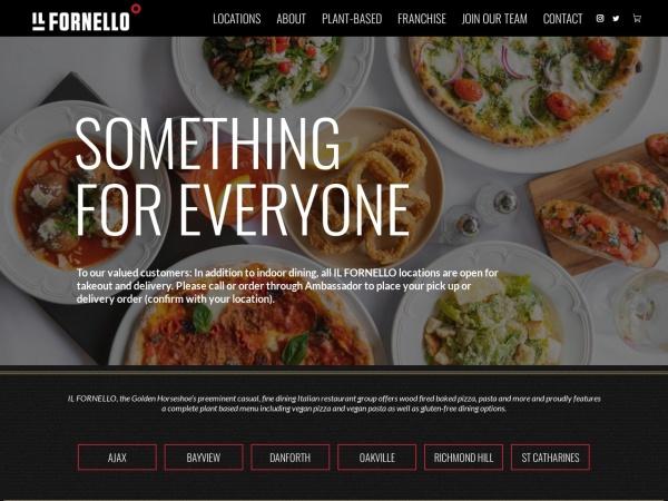 Screenshot of www.ilfornello.com