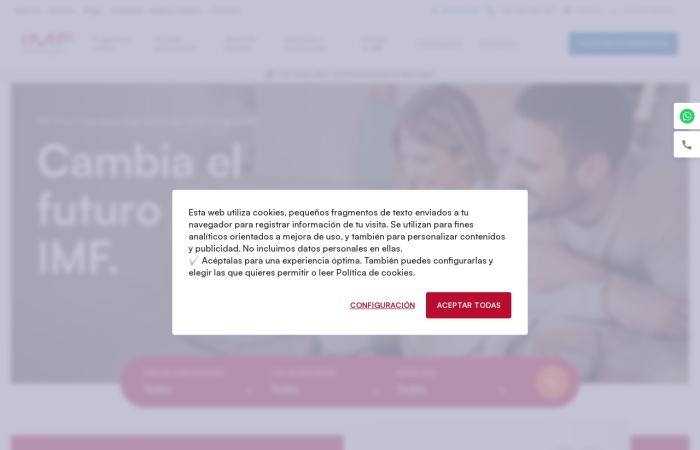 Screenshot of www.imf-formacion.com