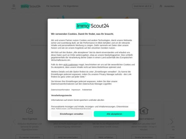 Suchmaschine Immobilienscout24.de