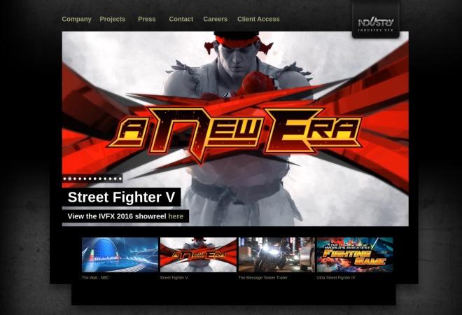 Screenshot of www.industryvfx.com