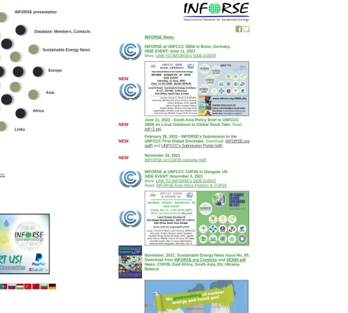 Screenshot of www.inforse.org