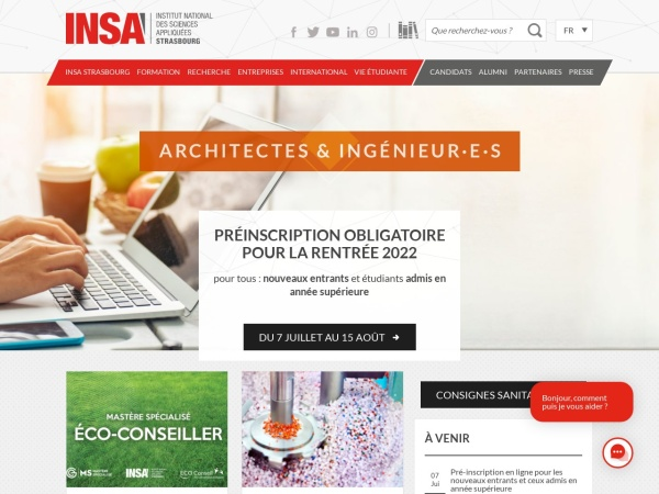 Screenshot of www.insa-strasbourg.fr