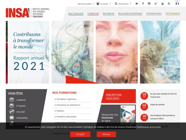 Screenshot of www.insa-toulouse.fr