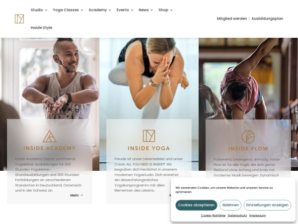 Screenshot of www.insideyoga.de