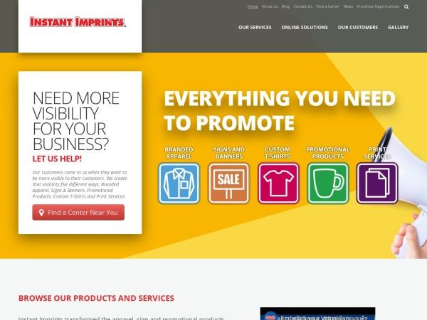 Screenshot of www.instantimprints.ca