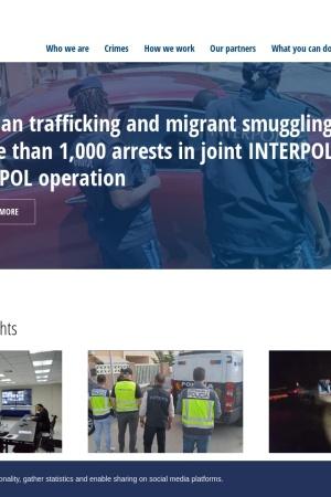 Screenshot of www.interpol.int