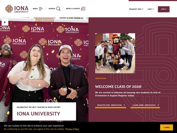 Screenshot of www.iona.edu