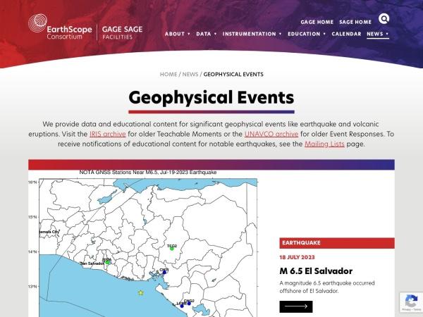 Screenshot of www.iris.edu