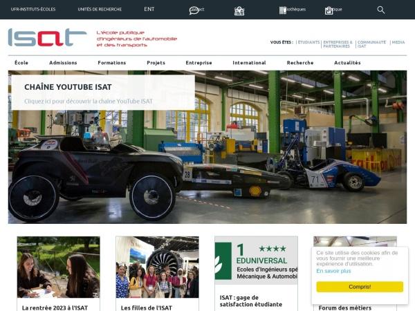 Screenshot of www.isat.fr