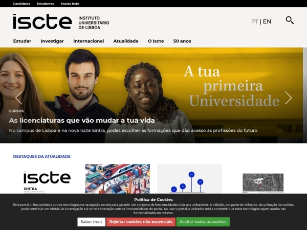 Screenshot of www.iscte-iul.pt
