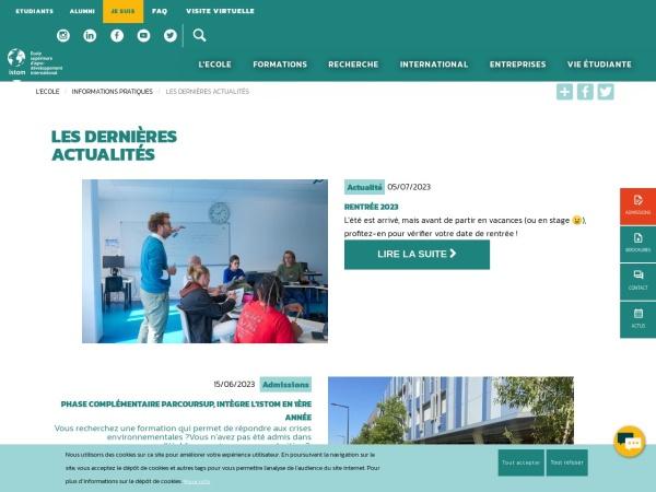 Screenshot of www.istom.fr