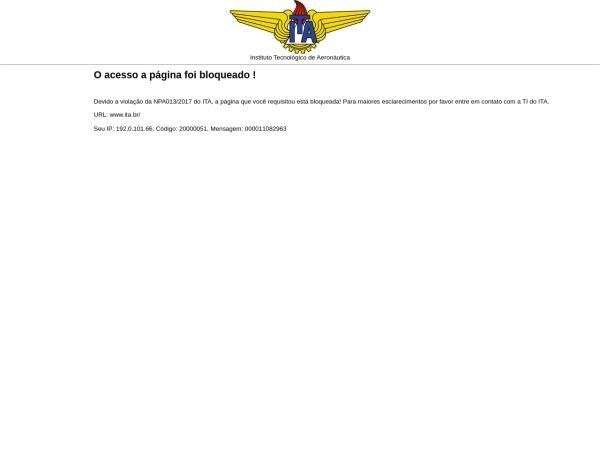 Screenshot of www.ita.br