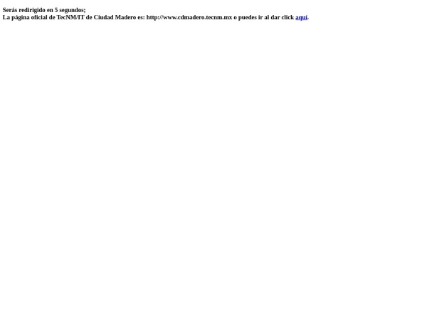 Screenshot of www.itcm.edu.mx