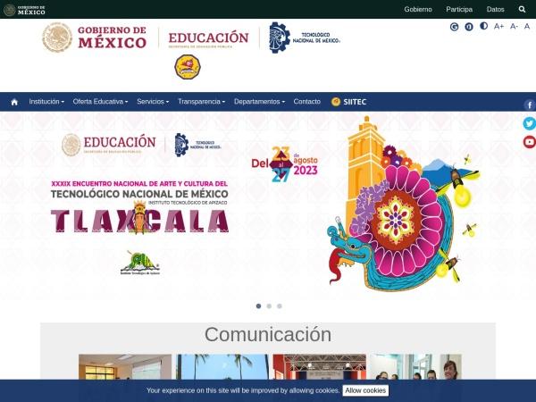 Screenshot of www.itcolima.edu.mx