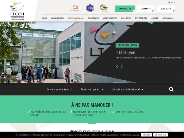 Screenshot of www.itech.fr