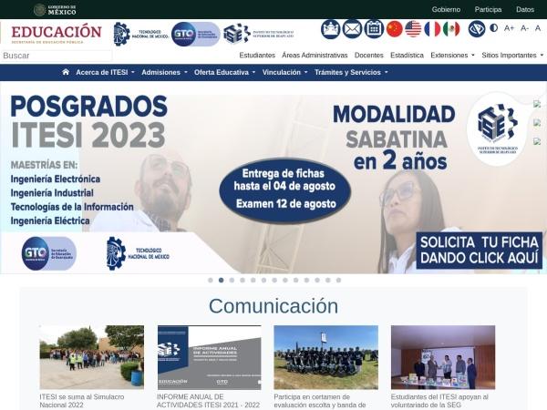 Screenshot of www.itesi.edu.mx