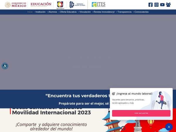 Screenshot of www.itesloscabos.edu.mx