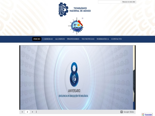 Screenshot of www.itmazatlan.edu.mx
