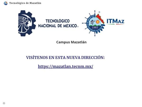 Screenshot of www.itmazatlan.edu.mx