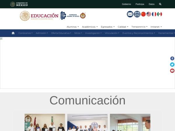 Screenshot of www.itmerida.mx