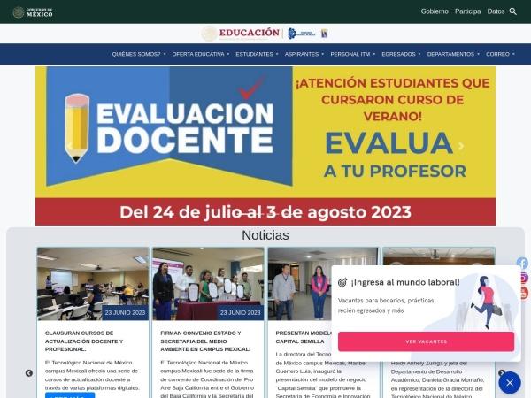 Screenshot of www.itmexicali.edu.mx