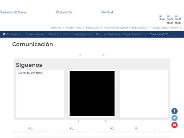 Screenshot of www.itmorelia.edu.mx