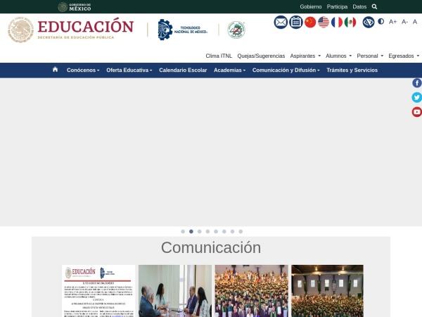 Screenshot of www.itnuevolaredo.edu.mx
