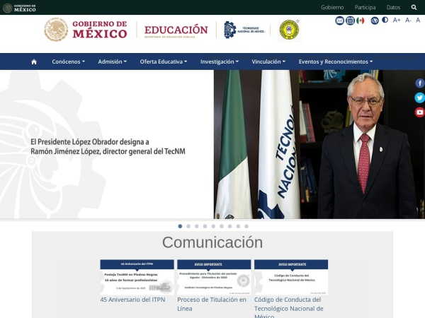Screenshot of www.itpiedrasnegras.mx
