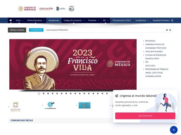 Screenshot of www.itsco.edu.mx