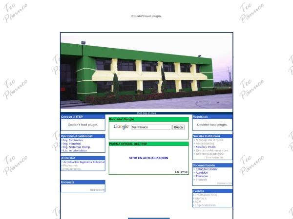 Screenshot of www.itspanuco.com
